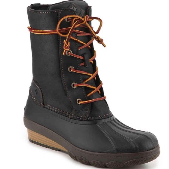 c03032c46810 SPERRY TOP-SIDER SALTWATER REEVE WEDGE DUCK BOOT 9.  M 5c0b1fa1c2e9fe4c59086143